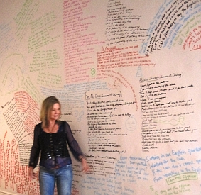Beatles Lyrics on walls of ATVP Gallery