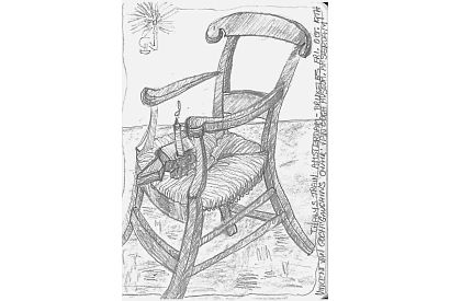 Gaughins Chair. After Van Gogh