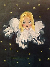 Baby handprint Christmas angel
