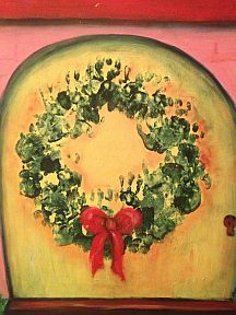 Baby handprint Christmas Wreath