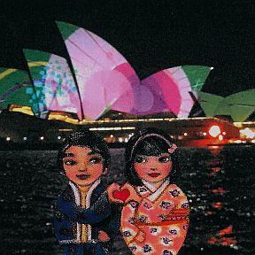 Mei+Kenji Vivid 2015 Sydney Opera House w