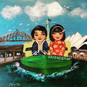 Mei+Kenji on the Friendship Ferry Sydney